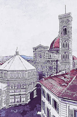 Painting - Florence - 19 by Andrea Mazzocchetti