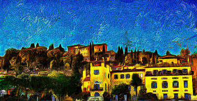 Historic Site Digital Art - Florence - 2 by Jean-Marc Lacombe