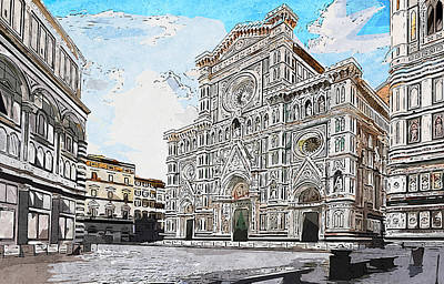 Painting - Florence - 20  by Andrea Mazzocchetti