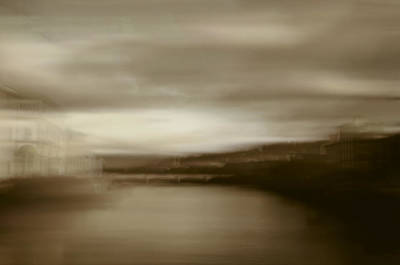 Florence, Arno River, Abstract Landscape Art Print by Frank Tschakert