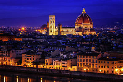 Religion Photograph - Florence At Twilight by Andrew Soundarajan
