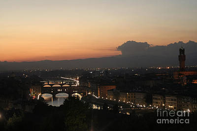 Photograph - Florence At Twilight by Stan and Anne Foster