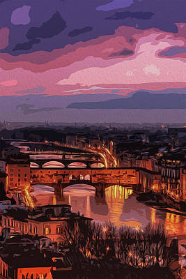 Painting - Florence, Beauty Of Italy by Andrea Mazzocchetti