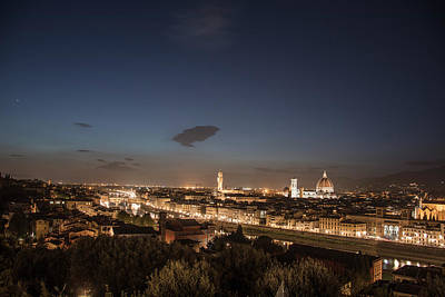 Photograph - Florence Blue Hour  by John McGraw
