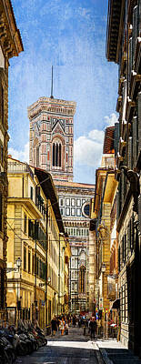 Photograph - Florence - Campanile - Bell Tower - Vintage Version by Weston Westmoreland