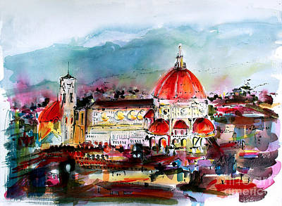 Painting - Florence Cathedral Of Saint Mary Of The Flower by Ginette Callaway