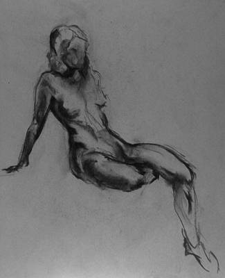 Male Nude Drawing Drawing - Florence by Chris  Riley
