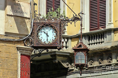 Photograph - Florence Clock  9464 by Jack Schultz