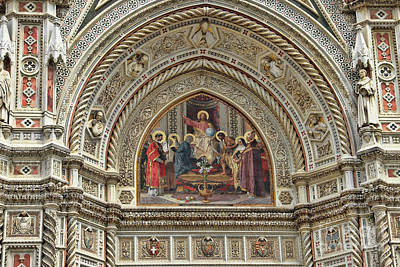 Photograph - Florence Duomo Facade 9418 by Jack Schultz