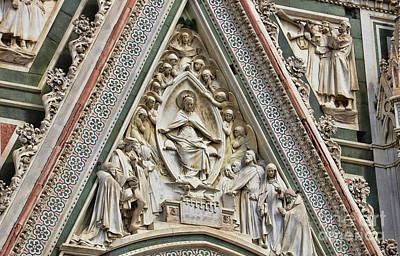Photograph - Florence Duomo Facade 9473 by Jack Schultz