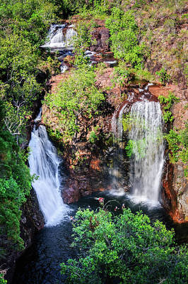 Photograph - Florence Falls - View From Above-nt, Australia by Daniela Constantinescu