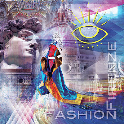 Digital Art - Florence Fashion by Sethu Madhavan