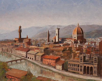Florence From Piazza Michelangelo Original by Katherine Seger