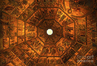 Photograph - Florence Italy Baptistry Mosiac by Gregory Dyer