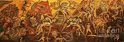 Photograph - Florence Italy Baptistry Satan by Gregory Dyer