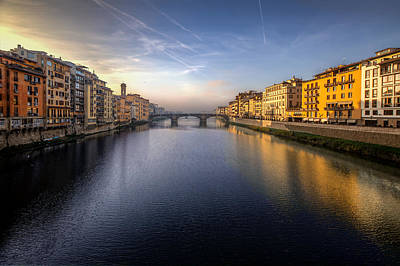 Photograph - Florence Italy Bridge by Al Hurley