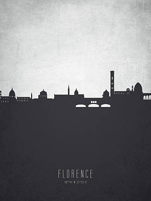 Florence Italy Painting - Florence Italy Cityscape 19 by Aged Pixel