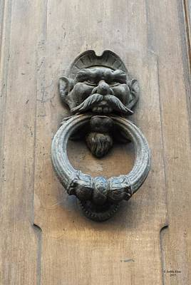 Photograph - Florence, Italy, Doorknocker by Judith Rhue
