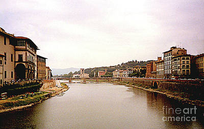 Photograph - Florence, Italy - Livinf Along The Arno River by Merton Allen