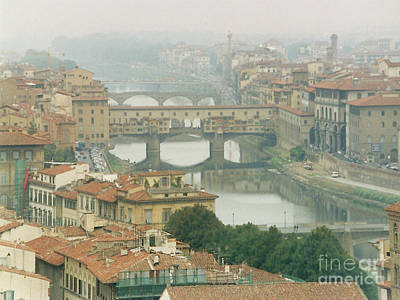 Photograph - Florence Italy On A Foggy Morning by Merton Allen