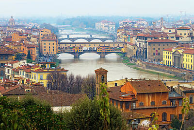 Exterior Photograph - Florence Italy by Photography By Spintheday