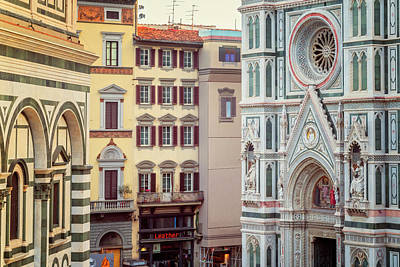 Art Print featuring the photograph Florence Italy View by Joan Carroll