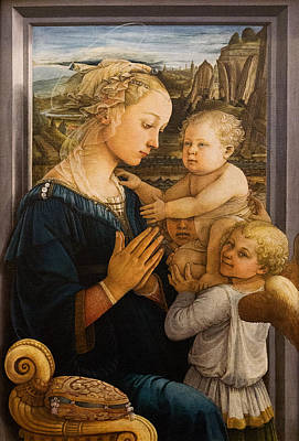Florence - Madonna And Child With Angels- Filippo Lippi Art Print