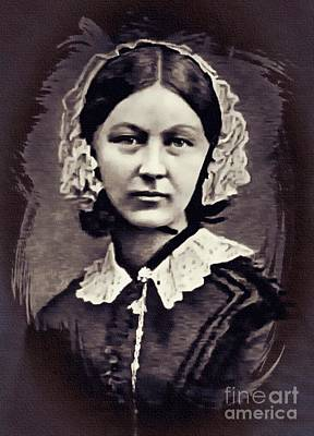 Digital Art - Florence Nightingale 1860 by Ian Gledhill