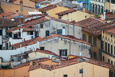 Photograph - Florence Old Building Roof by Songquan Deng