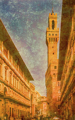 Photograph - Florence, Italy - Palazzo Vecchio by Mark Forte