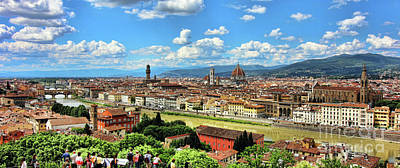 Photograph - Florence Panorama 0248 by Jack Schultz