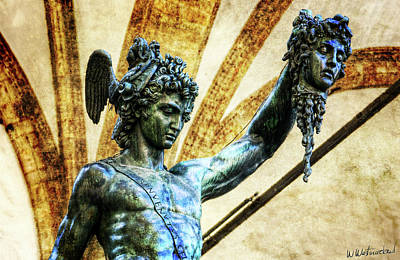 Photograph - Florence - Perseus In The Loggia - Detail - Vintage by Weston Westmoreland