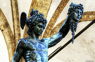 Photograph - Florence - Perseus In The Loggia - Detail by Weston Westmoreland