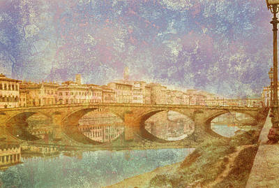 Photograph - Florence, Italy - Ponte Alla Carraia by Mark Forte