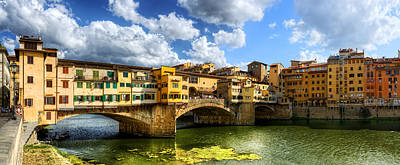 Photograph - Florence -  Ponte Vecchio From The Northwestern Bank by Weston Westmoreland