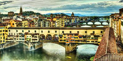 Photograph - Florence - Ponte Vecchio From Uffizi by Weston Westmoreland