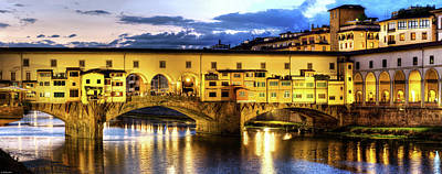 Photograph - Florence - Ponte Vecchio Sunset From The Oltrarno by Weston Westmoreland