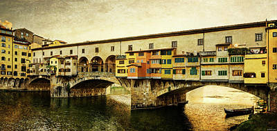 Photograph - Florence - Ponte Vecchio Sunset by Weston Westmoreland