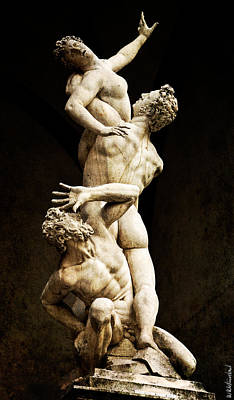Photograph - Florence - Rape Of The Sabine Women - Vintage Version by Weston Westmoreland