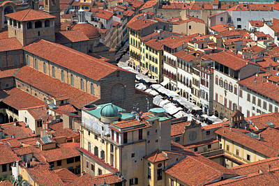Photograph - Florence Rooftops by Kim Wilson