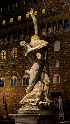 Photograph - Florence - Sabine Against The Palazzo Vecchio by Weston Westmoreland