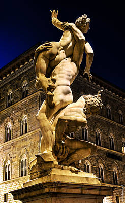 Photograph - Florence - Sabine And The City At Night by Weston Westmoreland