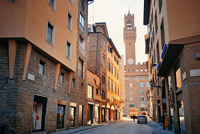 Photograph - Florence Street View by Songquan Deng