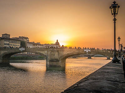 Photograph - Florence Sunset by Michael Thomas