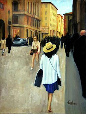 Painting - Florence Trip by Leonardo Ruggieri