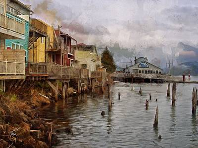 Scene On The Siuslaw  Art Print