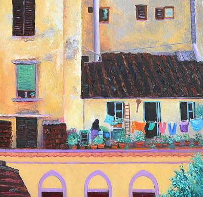 Florence Windows Art Print by Jan Matson