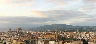 Photograph - Florence At Sunset by David Warrington