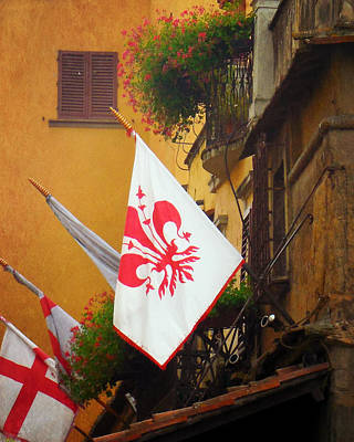Photograph - Florentine Flag by Valerie Reeves