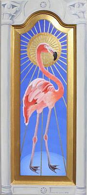 Painting - Florentine Flamingo by Amanda  Lynne